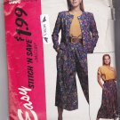 McCall's Stitch N Save 6086 Uncut Jacket Blouse Split Skirt Culottes size 8 10 12 14