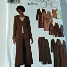 Simplicity 5842 Pattern Unlined Duster Jacket Top Pants 8 10 12 14 Uncut