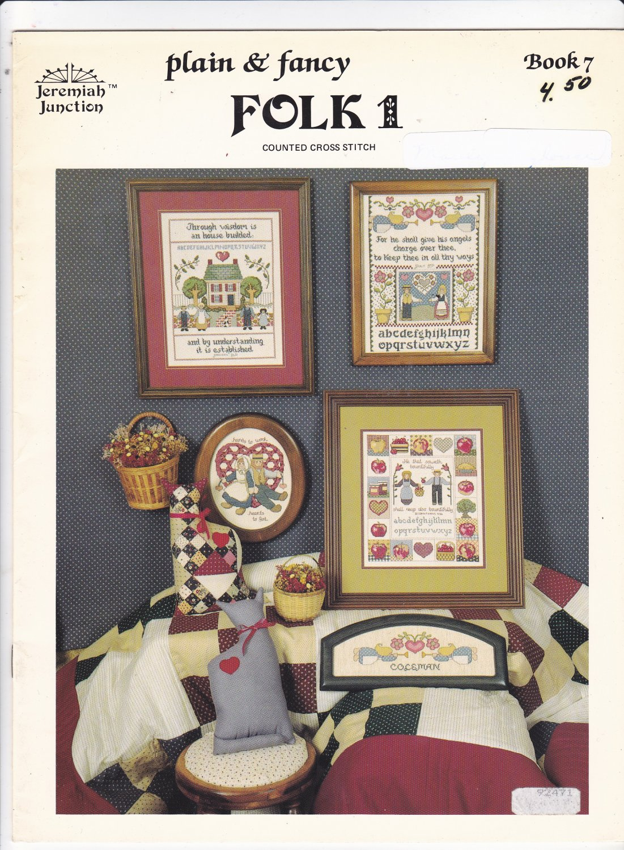 Plain & Fancy Folk 1 Cross Stitch Chart Booklet Jeremiah Junction