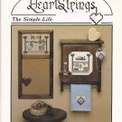 Heartstrings The Simple Life Cross Stitch leaflet AC-24 Pat Thode