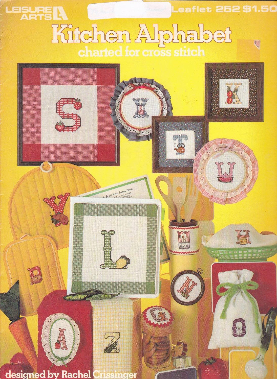 Kitchen Alphabet Cross Stitch pattern leaflet Leisure Arts 252