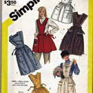 Vintage Simplicity 6173 Bib Aprons Medium 14 16 (bust 36 38) Pockets uncut