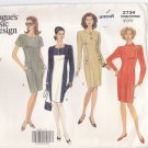 Vogue 2734 Pattern 8 10 12 Uncut Semi-Fitted Tapered Dress Color Blocked Sheath