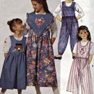 McCall 6696 Pattern Uncut Girls Jumpsuit Collar Split Skirt Jumper size 2 3 4