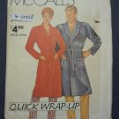 Vintage McCall Pattern 0011 Men Women Bathrobe Robe Quick Wrap Up S M L XL Uncut