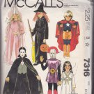 McCall 7316 Pattern Uncut XS 2 4 Halloween Costume Jumpsuit Cape Hood Wings Etc