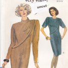 Vogue 7883 Pattern 8 10 12 Very Easy Dress Front Overlay Shoulder Pads Uncut