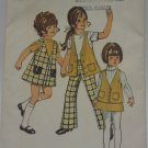 Vintage Simplicity 9476 Pattern Uncut Jumper Vest Skirt Bell Bottom Pants Girl 5