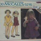 Vintage McCall 5216 Pattern Jumper Blouse Toddler Uncut 3