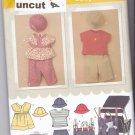 Simplicity 3765 Pattern Baby Dress Top Pants Hat Stroller Bag XXS thru L Uncut