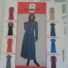McCall 9034 Pattern 14 16 18 Dress Darts Pleated Skirt Variations Uncut