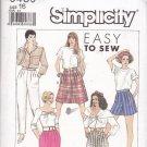 Easy Simplicity 9439 Pattern pants culottes skirt size 16 uncut