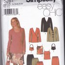 Simplicity 5261 uncut 16 18 20 22 24 Separates Cami Top Pants Bias Skirt Jacket Bag