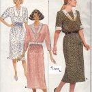 Butterick 4785 Uncut 12 14 16 Belle France Dress Contrast Collar Modest