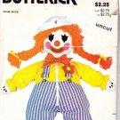 Butterick 3510 Pattern Clown Dressing Zipper Button Learning Doll uncut