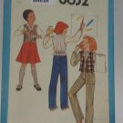 Vintage Simplicity 8632 Pattern Uncut Bias Skirt Pants Vest Girls 7