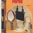 Vtg Macrame Purse Time Pattern Book Liz Miller Plaid 7284