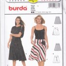 Burda 8677 Pattern Uncut 8 10 12 14 16 18 Flared Skirt with Yoke solid or vertical stripe fabric