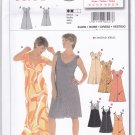Burda 8227 Uncut 10 12 14 16 18 20 22 24 Dress Flared Skirt Empire Waist Tie Shoulders