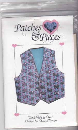 Patches and Pieces Triple Weave Vest Pattern Uncut Crafty Woven Wearable Art