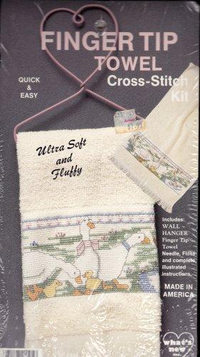Duck Cross Stitch Kit Fingertip Towel NIP Duckling