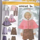 Simplicity 4809 Pattern Girls Jumper Top Pants Hooded Cape Bag 1/2 1 2 3 4 Uncut