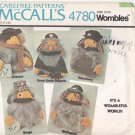 McCall's 4780 Pattern Uncut to make Wombles Dolls with Clothes 1970s Filmfair
