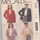 McCall's Pattern 8290 Uncut 14 Faux Suede Lined Jacket Notch or Shawl Collar