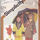 Simplicity 5632 Uncut 5 6 Pants Poncho Reversible Rain Coat Detachable Hood