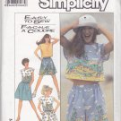Simplicity Pattern 8605 Uncut Medium 14 16 Surf Club Crop Top Shorts Skirt for Border Prints