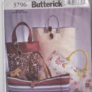 Butterick 3796 Pattern Uncut Lined Tote Bags