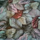 Hoffman Pheasant Hill Fall Foliage Cotton Quilting Fabric 2.25 y Leaves Beige Pink Red Green