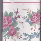 Satiny Wallpaper Border Pink Roses 6.81 in x 5 yards Imperial TTCS3274B