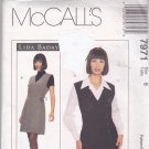 McCall's Pattern 7971 Uncut 8 Blouse French Cuffs Lined Jumper Lida Baday