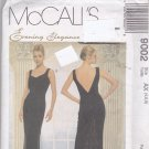 McCall 9002 Pattern Uncut FF 4 6 8 Evening Gown Backless Fishtail Godet