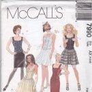 McCall 7990 Pattern Uncut FF 4 6 8 Corset Top Full or Slim Skirt Evening