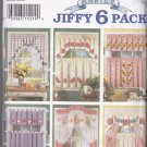 Simplicity Home Decor Pattern 8924 Uncut FF Abbie's Jiffy 6 Pack Applique Curtains
