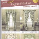 Simplicity Home Decor Pattern 5688 Uncut FF Robin Greenwood Window Treatments