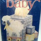 Bernat Baby Plastic Canvas Kit Tissue Cover Lamb Pull Toy and Blocks Design 95-2622-00
