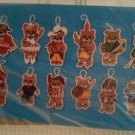 Needlepoint Plastic Canvas Ornament Kit Wonderart W94-120 to make 12 Teddy Bear Ornaments