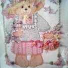 Bucilla 40975 Mrs. Teddy Bear Counted Cross Stitch and Ribbon Embroidery Kit