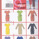 Butterick 5144 Pattern Uncut 12 14 16 Fast & Easy Simple Dress Hemline Sleeve Wrap Options