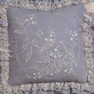Jannlynn Charmin 04-449 Candlewicking Embroidery Pillow Kit Blue Birds