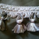 Beige Ivory Tassel Fringe Gimp Trim 1.33 yards for Jewelry or Crafts