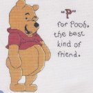 P for Pooh, the best kind of friend Counted Cross Stitch Kit NIP