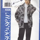 Butterick See & Sew 6326 Pattern Uncut Zip Front Jacket Pull On Pants 18 20 22 Plus