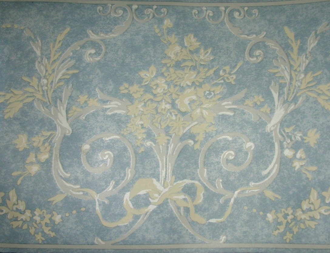 Springmaid Wallpaper Border Corinthia 7050814 Blue 6.785 inches x 5 yards