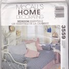 McCall's 3559 Pattern Uncut Duvet Bedskirt Tablecloth Sham Pillows