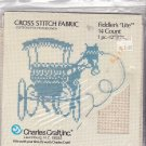 Charles Craft Fiddler's Cloth Lite 12x18 inches 14 Count Cotton Poly Linen for Cross Stitch