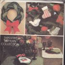McCall's Avon Christmas Crafts Sewing Pattern Uncut Stocking Braided Wreath Ornaments